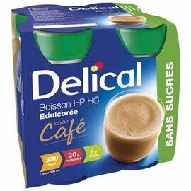 Delical boisson hp hc edulcorée café sans sucres lot de 4 bouteilles x 200ml - 800.0 ml - délical -149475