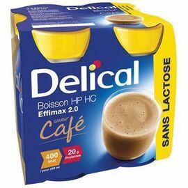 Delical boisson hp hc effimax 2.0 café lot de 4 bouteilles x 200ml - 800.0 ml - délical -149377