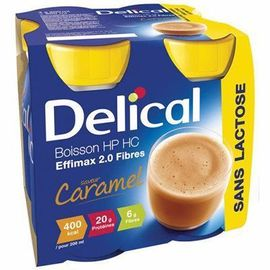 Delical boisson hp hc effimax 2.0 fibres caramel lot de 4 bouteilles x 200ml - 800.0 ml - délical -149453
