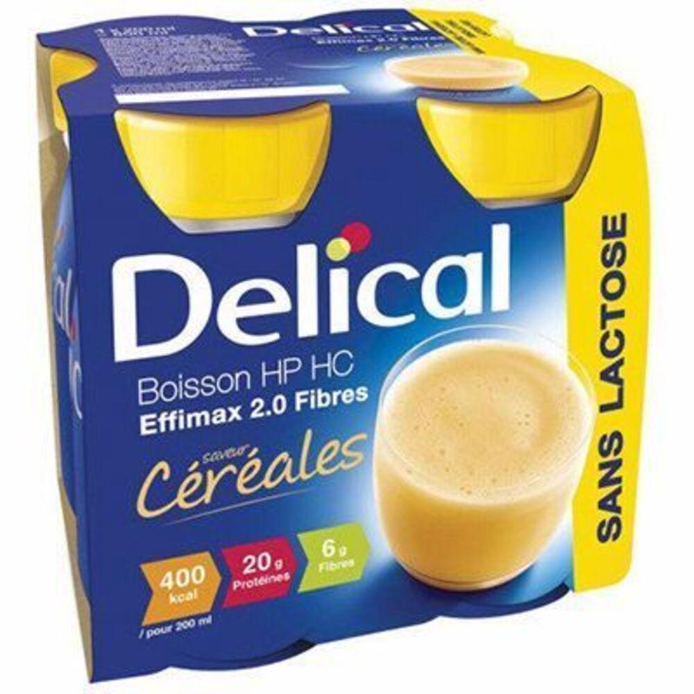 Delical boisson hp hc effimax 2.0 fibres céréales lot de 4 bouteilles x 200ml - 800.0 ml - délical -149379