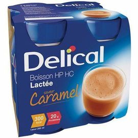 Delical boisson hp hc lactée caramel lot de 4 bouteilles x 200ml - 800.0 ml - délical -149454