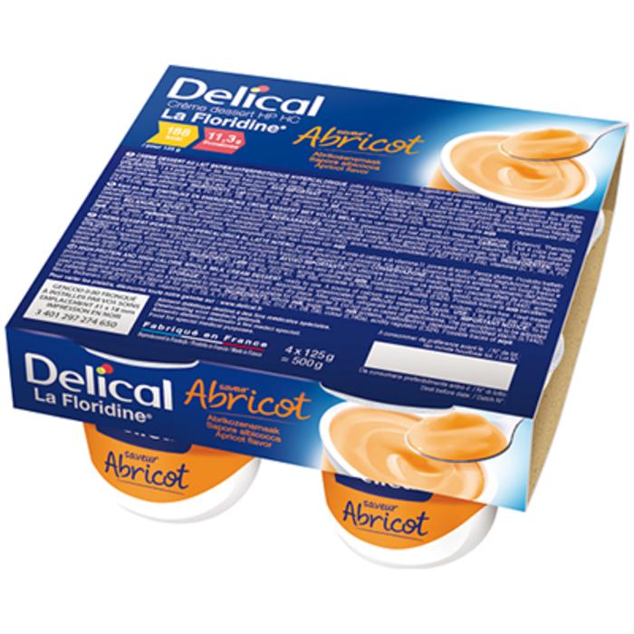 Delical crème dessert hp hc la floridine abricot pack 4 pots x 200g Délical-149346