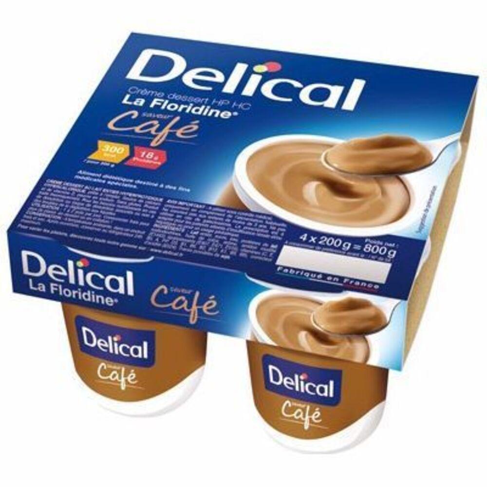 Delical crème dessert hp hc la floridine café pack 4 pots x 200g - 800.0 g - délical -149328