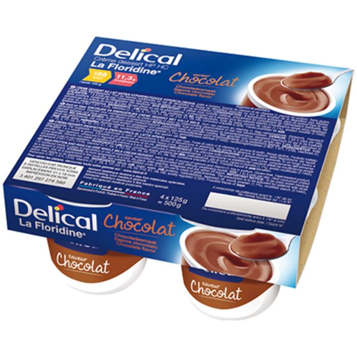 Delical crème dessert hp hc la floridine chocolat pack 4 pots x 200g Délical-149349