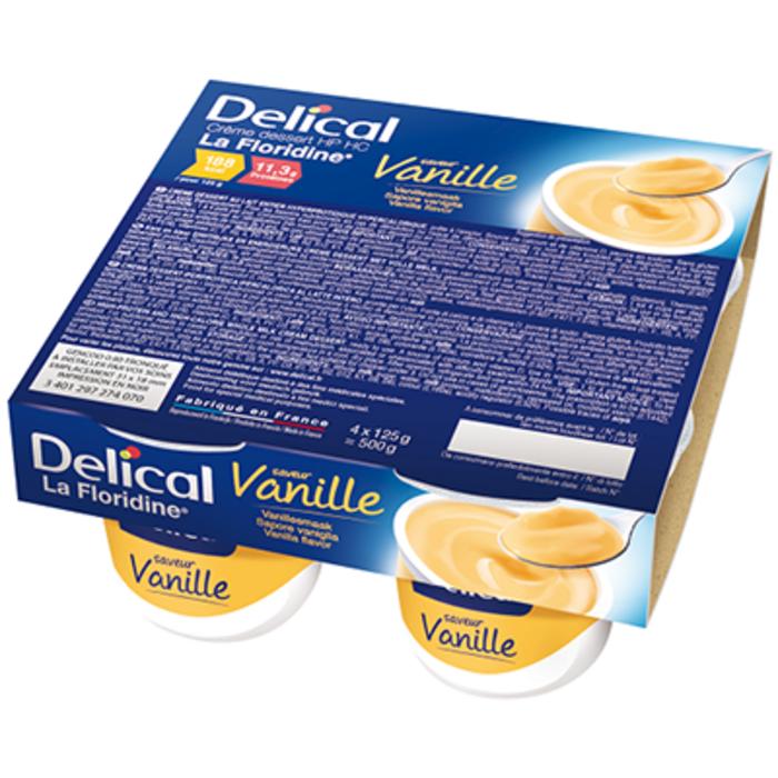 Delical crème dessert hp hc la floridine vanille pack 4 pots x 200g Délical-149359