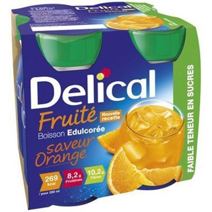 Delical fruité boisson edulcorée orange 4x200ml Délical-223037
