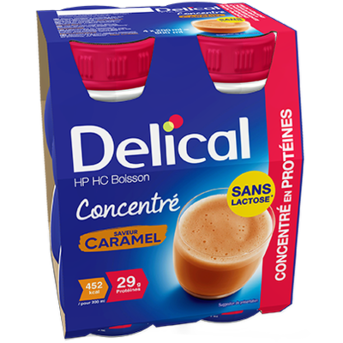 Delical hp hc boisson concentré caramel 4x200ml Délical-228050