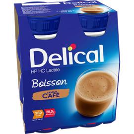 Delical hp hc lactée boisson café 4x200ml - délical -228053