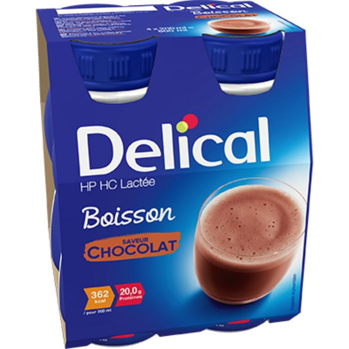 Delical hp hc lactée boisson chocolat 4x200ml Délical-228055