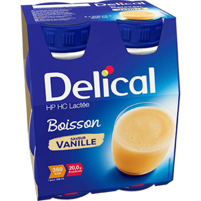 Delical hp hc lactée boisson vanille 4x200ml Délical-228059