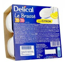 Delical le brassé citron 4x200g - délical -223383