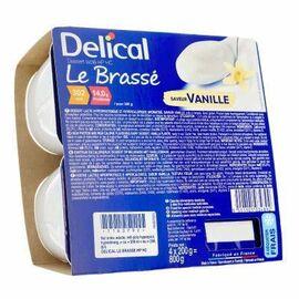 Delical le brassé vanille 4x200g - délical -223386