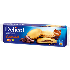 Delical nutra'cake chocolat 3x3 biscuits - délical -228060