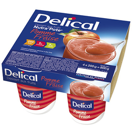 Delical nutra pote fraise 4x200g - 800.0 g - délical -149492