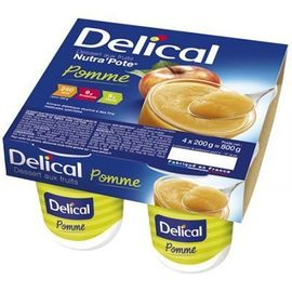 Delical nutra pote pomme 4x200g - 800.0 g - délical -149489
