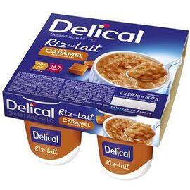 Delical riz au lait saveur caramel 4x200g - délical -220442