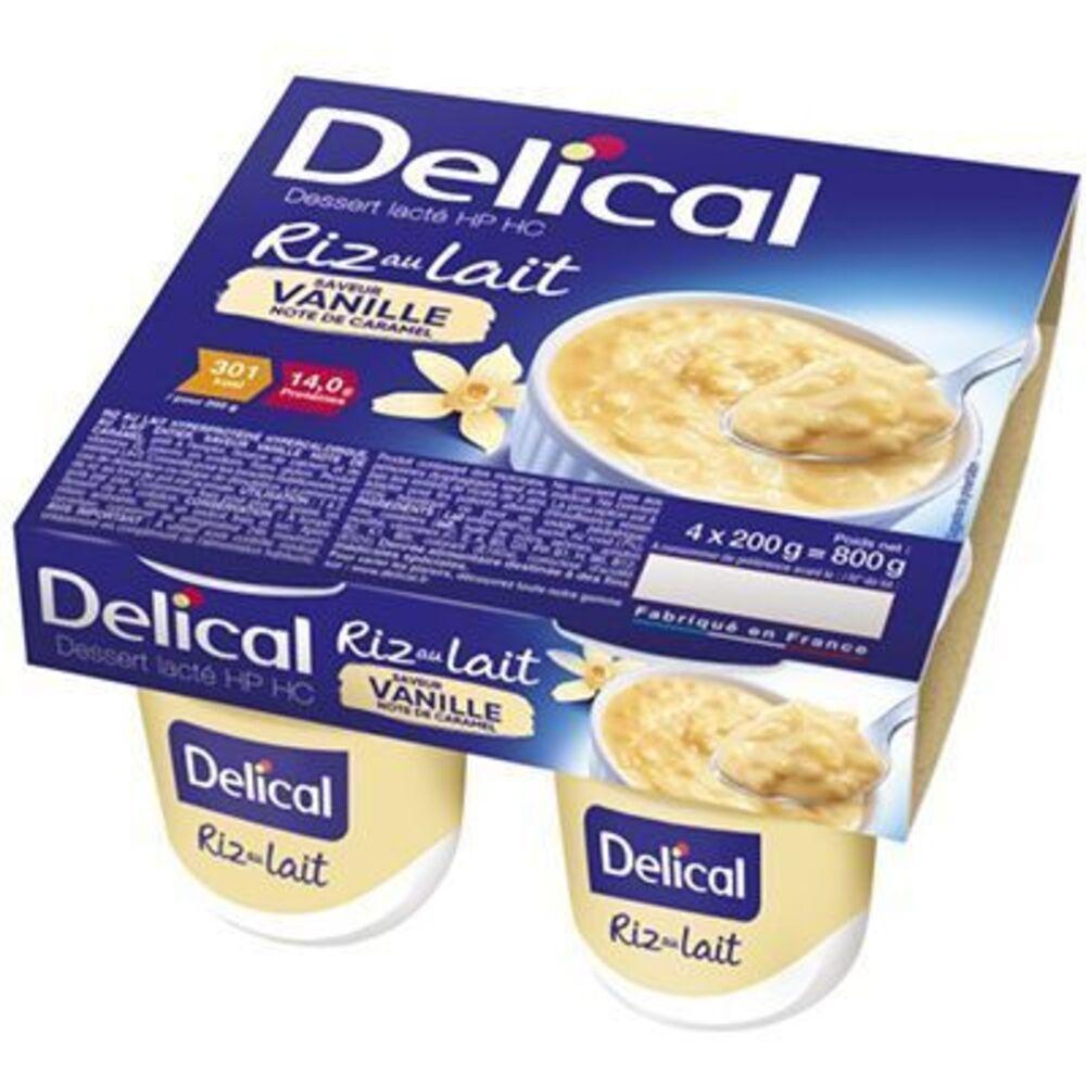 Delical riz au lait saveur vanille 4x200g - délical -220443