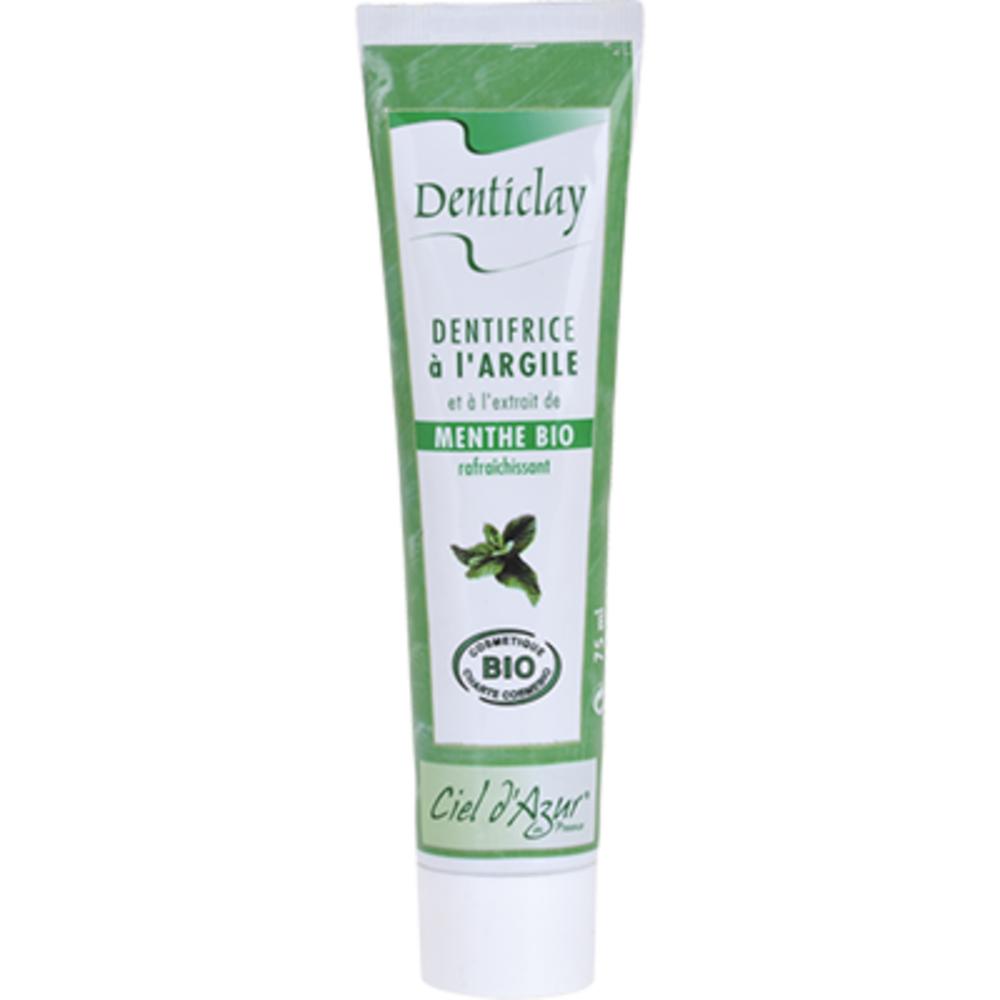 Denticlay dentifrice à l'argile et menthe bio 75ml - denticlay -222964