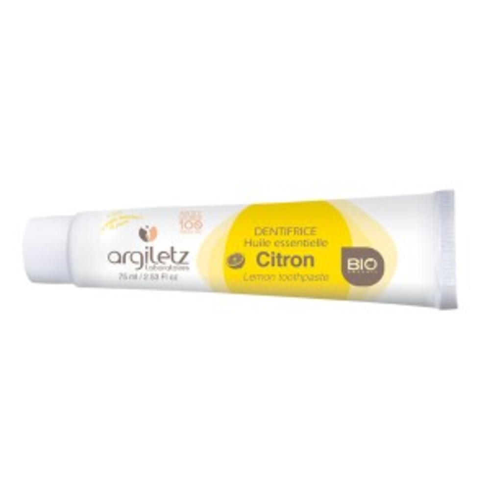 Dentifrice citron bio - 75.0 ml - dentifrices bio - argiletz Tonique et stimulant-9606