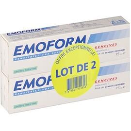 Dentifrice gencives arôme menthe - lot de 2 x 75 - 150.0 ml - emoform -205872
