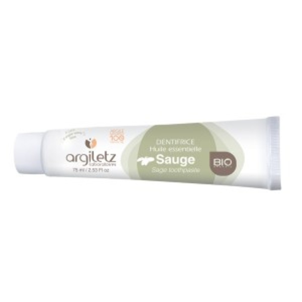 Dentifrice sauge bio - 75.0 ml - dentifrices bio - argiletz Assainissement des gencives-9608