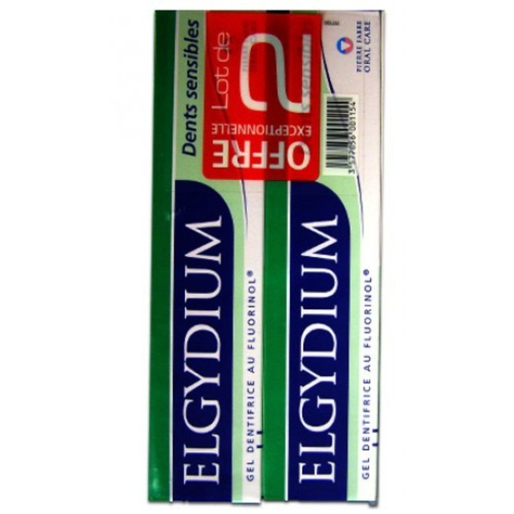 Dents sensible dentifrice - lot de 2 - elgydium -206687