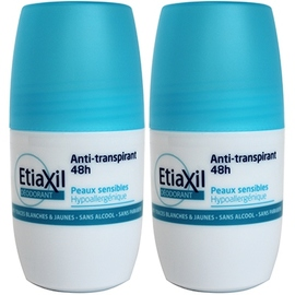 Déodorant anti-transpirant 48h roll-on - 2x50ml - etiaxil -205330