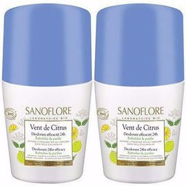 Déodorant vent de citrus roll-on 2x50ml - sanoflore -215181