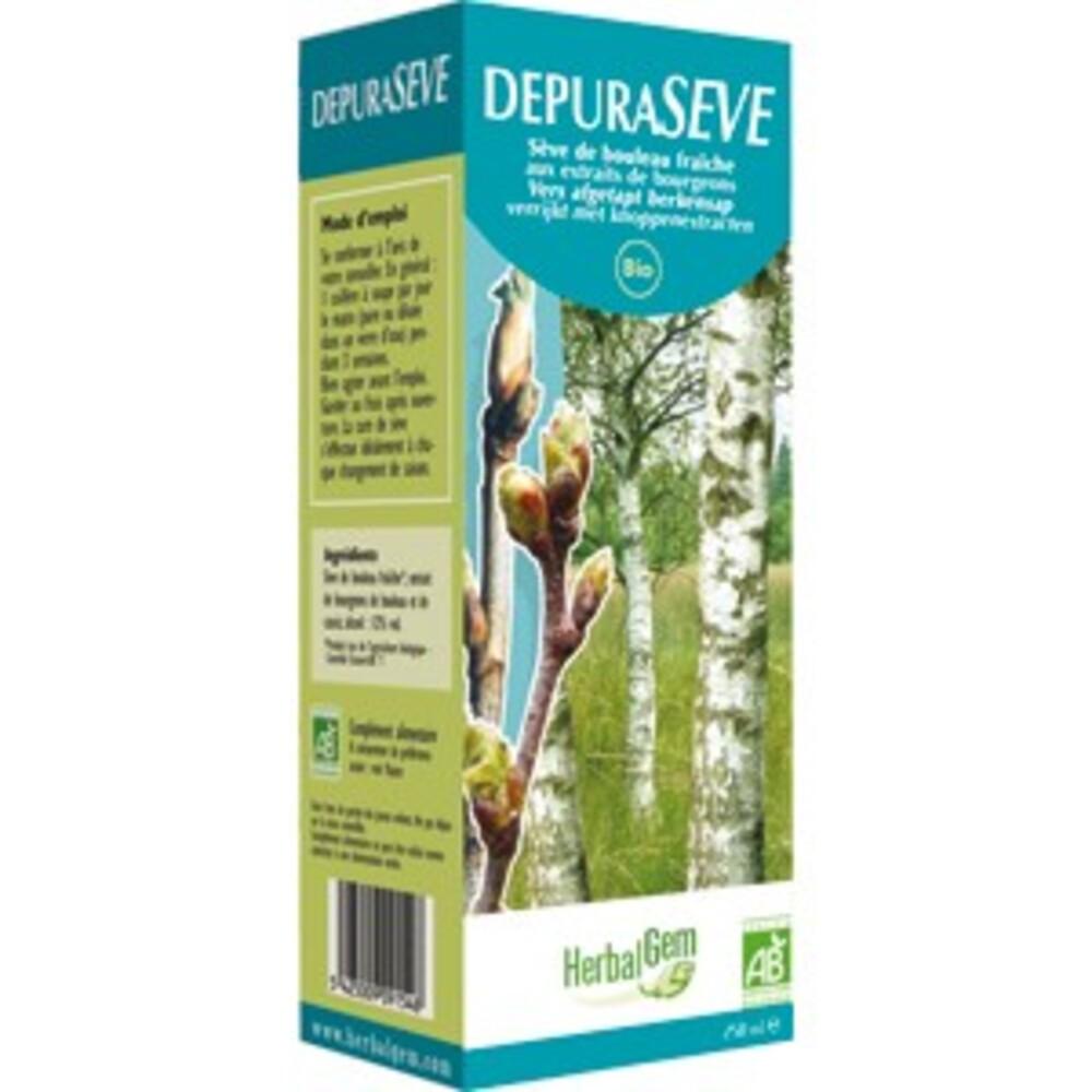 Dépurasève - 250.0 ml - sèves enrichies aux bourgeons - gemmobase Bourgeons de bouleau et de cassis-7535