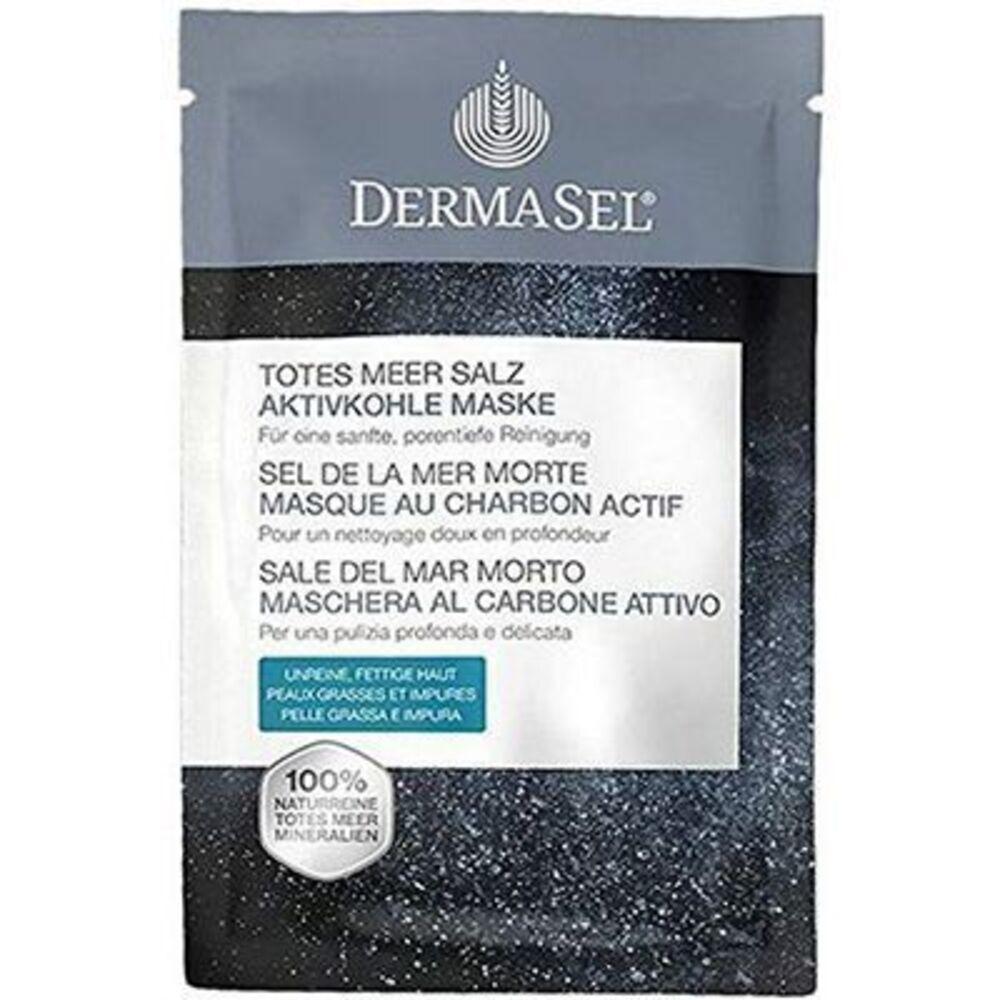 Dermasel sel de la mer morte masque au charbon actif 12ml - dermasel -225345