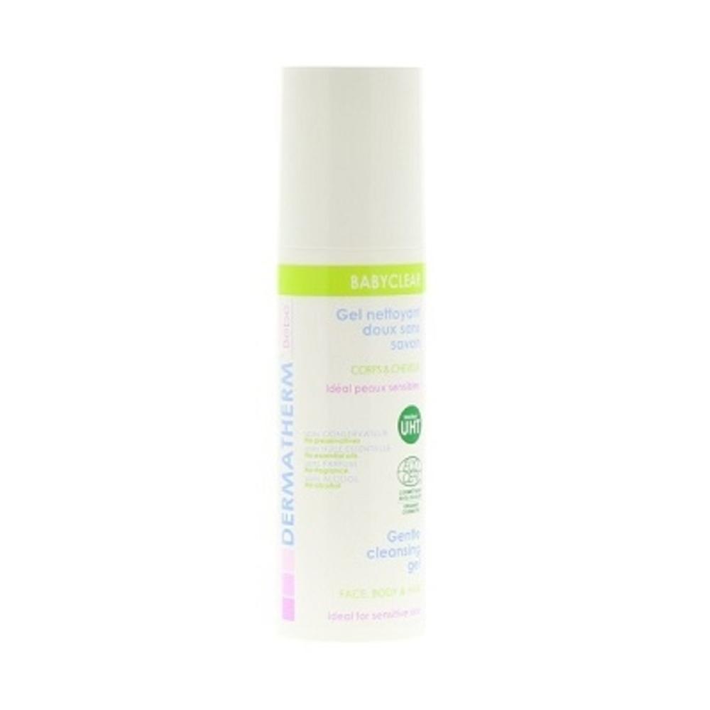 Dermatherm babyclear gel nettoyant moussant - 150.0 ml - bébé 150ml visage, corps et cheveux - dermatherm Gel Nettoyant Moussant-108484