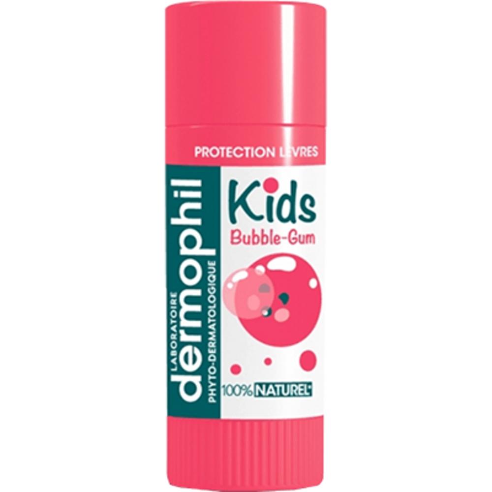 DERMOPHIL INDIEN Kids Stick Lèvres 100% Naturel Bubble-gum 4g - Dermophil Indien -219303