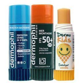 Dermophil kit vacances lot de 3 sticks lèvres - dermophil indien -226354