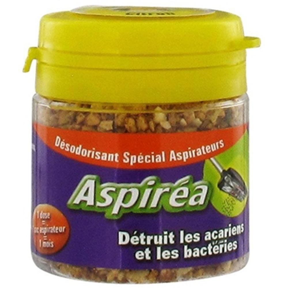 Désodorisant aspirateur citron - 60.0 g - désodorisant aspirateur - aspirea Détruit les acariens et bactéries-5581