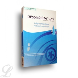 Desomedine 0,1% collyre - 10 doses - bausch & lomb -192854