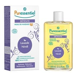 Détente huile de massage bio - 100.0 ml - massage bio - puressentiel LAVANDE - NÉROLI-13336
