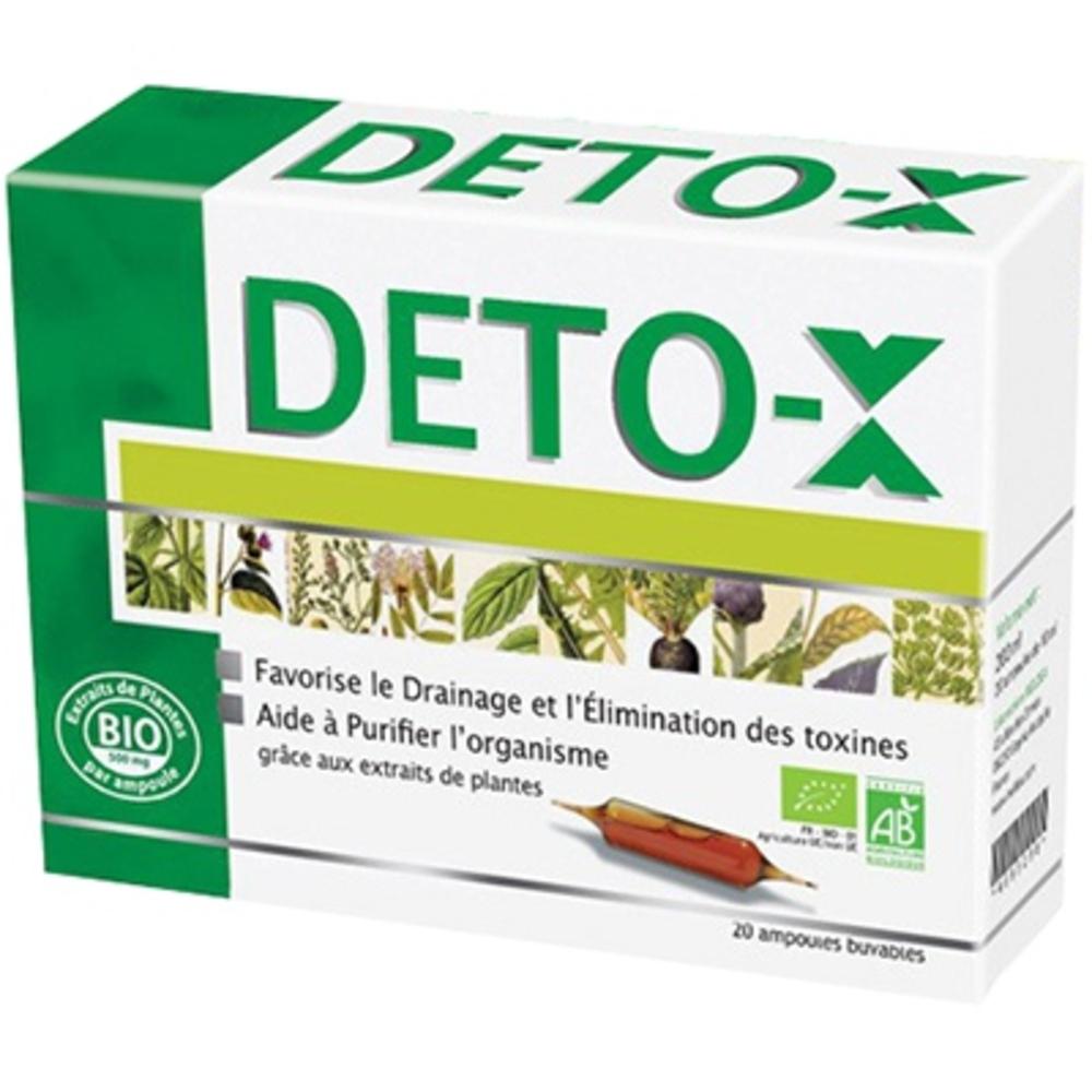 Deto x bio - 20.0 unités - ineldea - ineldea Drainage et élimination des toxines-10998