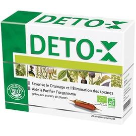 Deto x bio ampoules 10x20ml - 20.0 unités - ineldea - ineldea Drainage et élimination des toxines-10998