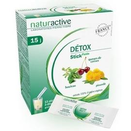 Détox 15 sticks goût citron à diluer - naturactive -205109