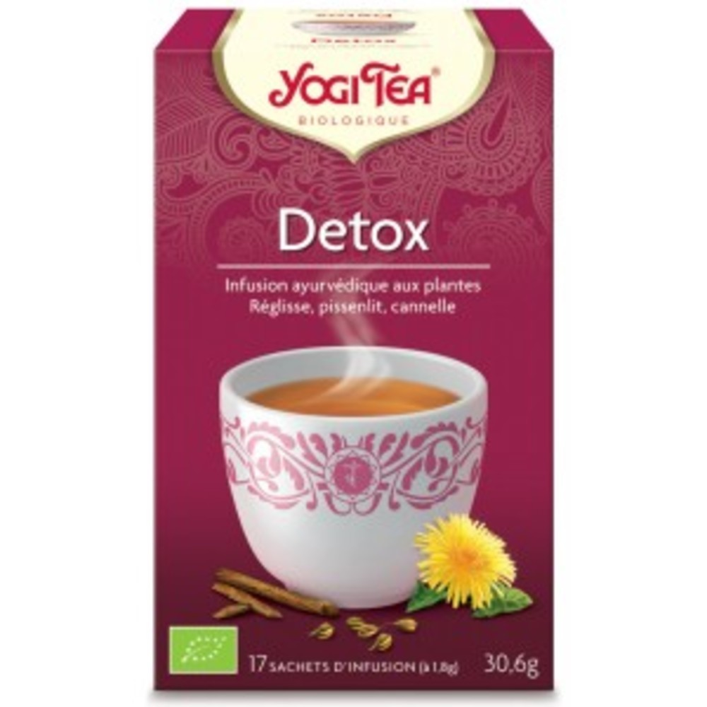 Detox bio - 17 infusettes - divers - yogi tea -190027