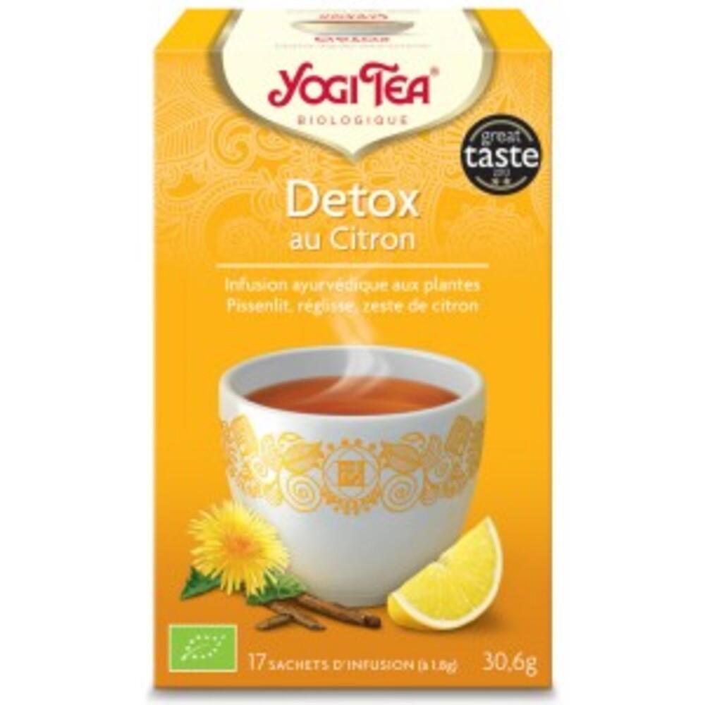 Detox citron bio - 17 infusettes - divers - yogi tea -190026