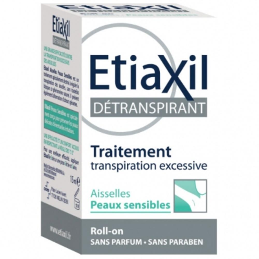 Détranspirant aisselles peaux sensbiles roll-on - 15.0 ml - etiaxil -144154
