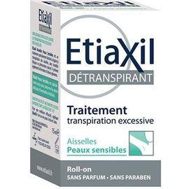 Détranspirant aisselles peaux sensibles roll-on - 15.0 ml - etiaxil -229100