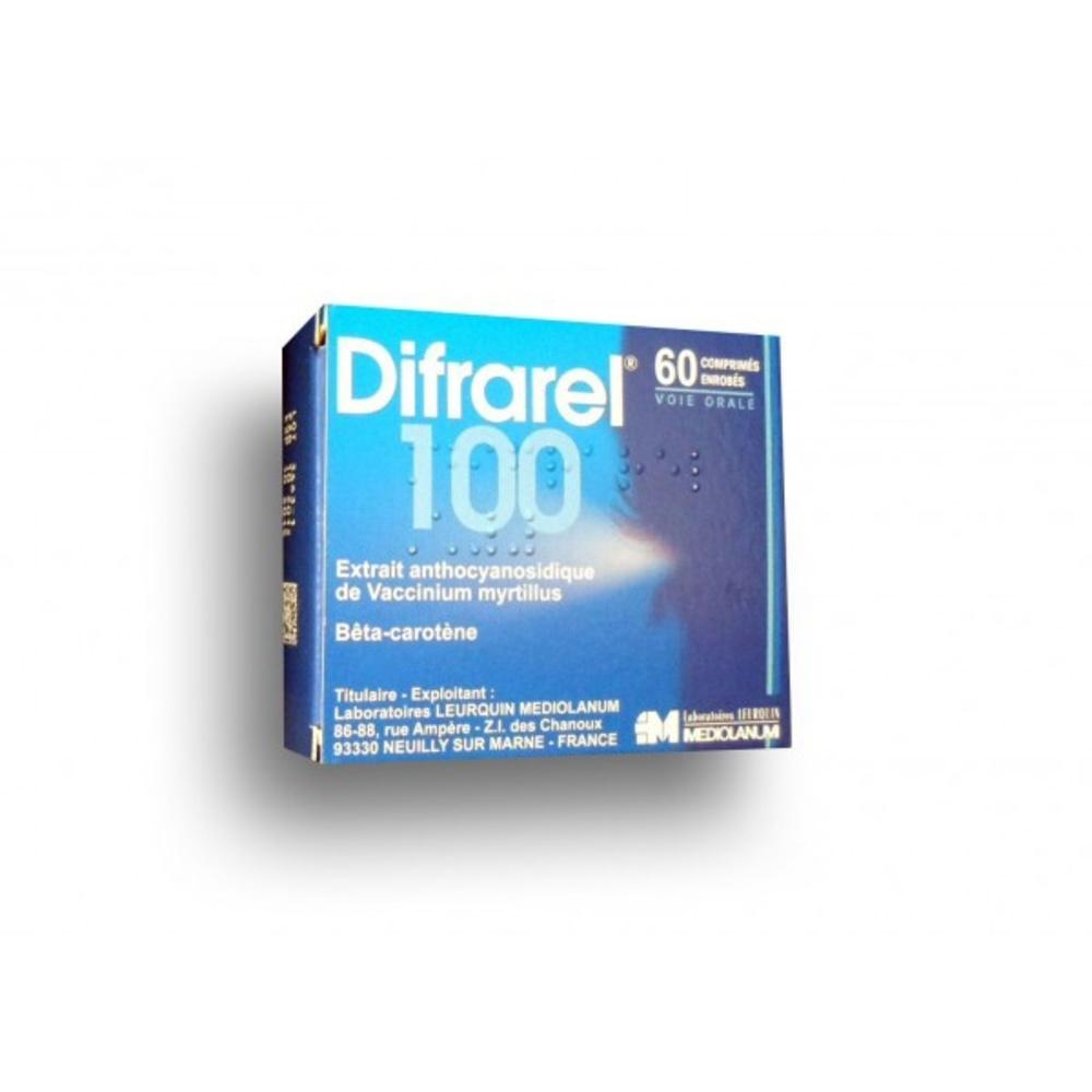 Difrarel 100mg - 60 comprimés - laboratoires leurquin mediolanum -192495