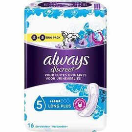 Discreet long plus 16 serviettes hygiéniques - always -225432