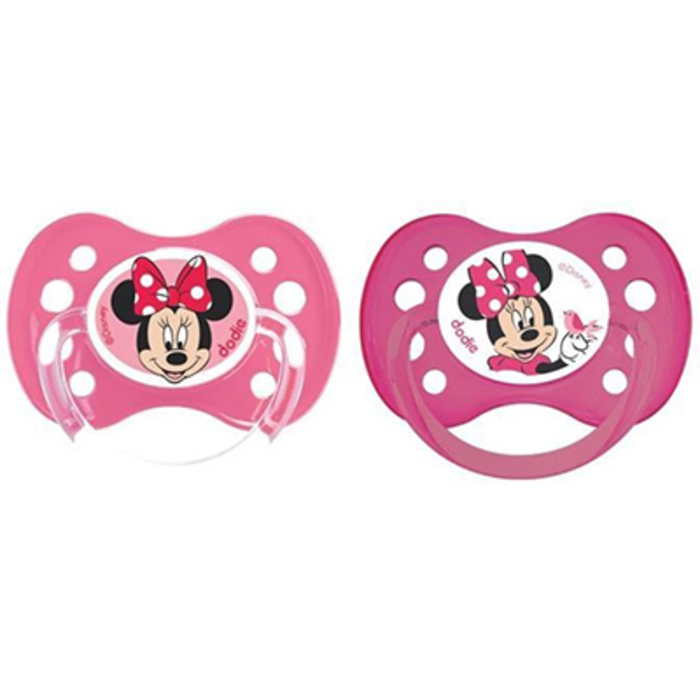 Disney baby 2 sucettes anatomiques silicone +6mois Dodie-213859