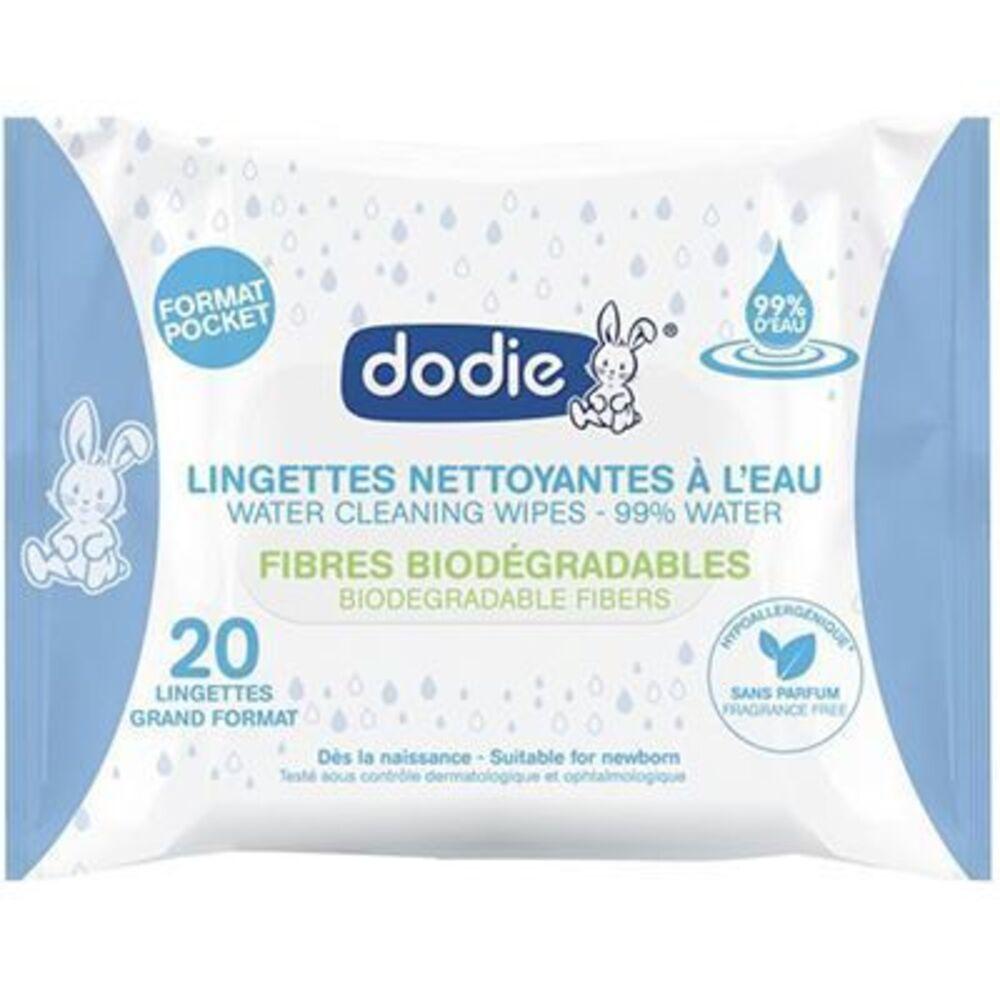 Dodie lingettes nettoyantes à l'eau x20 - dodie -224308