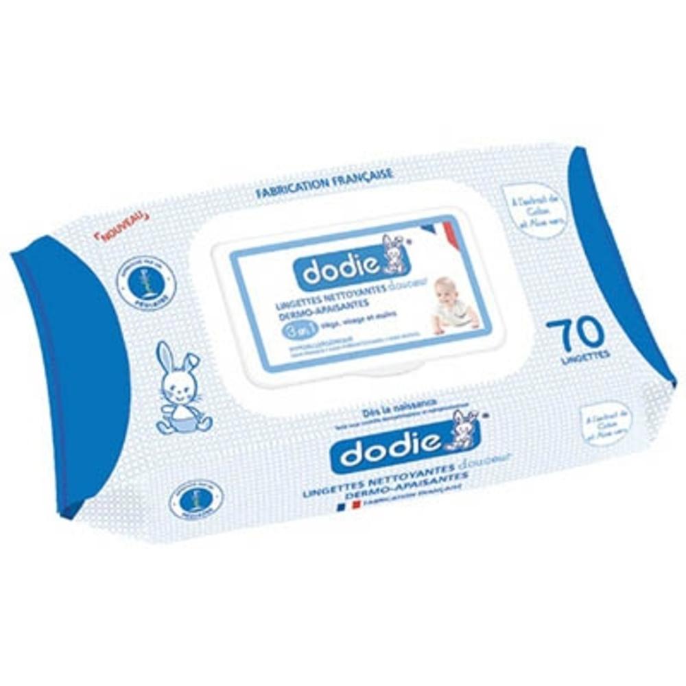 Dodie lingettes nettoyantes dermo-apaisantes - dodie -203745