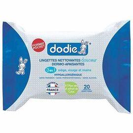 Dodie lingettes nettoyantes dermo-apaisantes x20 - dodie -216174