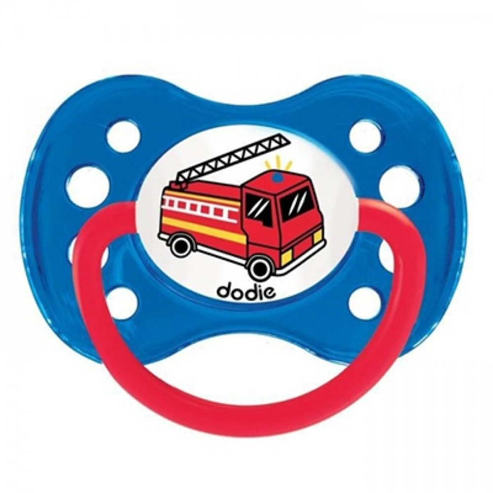 Dodie sucette anatomique silicone +6mois camion pompier - dodie -144853